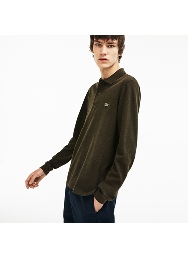 Lacoste Erkek Klasik Fit Sweatshirt L1313.EL9 Yeşil